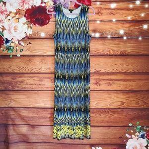 J. Jill Wearever Multicolor Maxi Dress